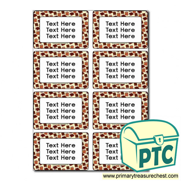 Book Themed Pupil / Work Book Labels