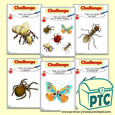 Minibeasts Themed ICT Challenge Cards