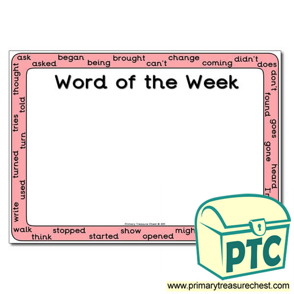 Copy of HF Words (Year 4) - Word of the Week Poster