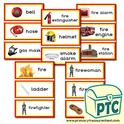Fire Station Themed Flashcards
