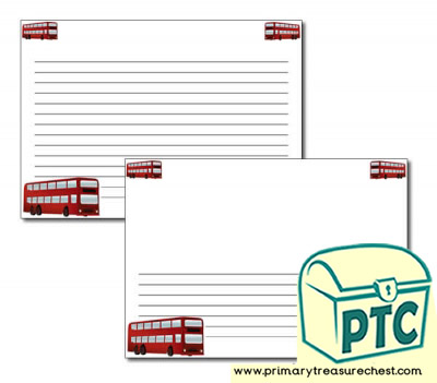 Bus Station Themed Landscape Page Border/Writing Frame (narrow lines)