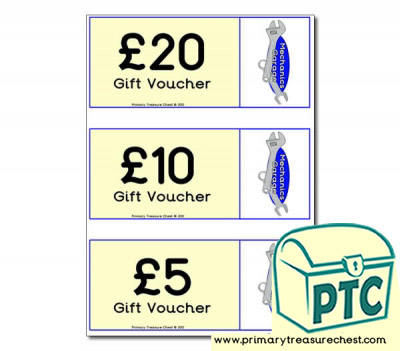 Mechanics Garage Role Play Vouchers