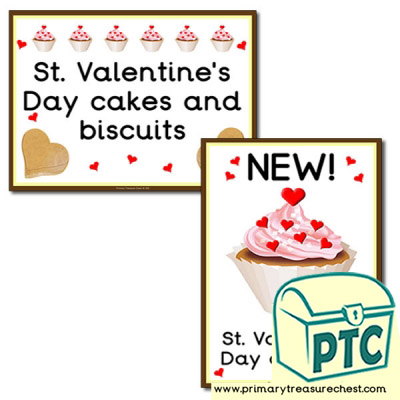 St. Valentine's Day Signs For Your Role Play Cake Shop