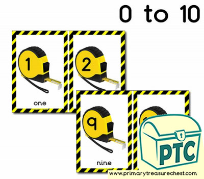 Construction Site Tape measure Number Line
