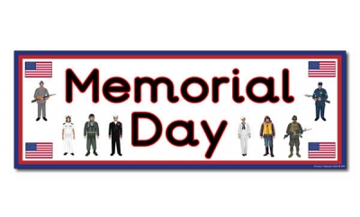 'Memorial Day' Display Heading/ Classroom Banner
