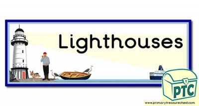 'Lighthouse' Display Heading/ Classroom Banner