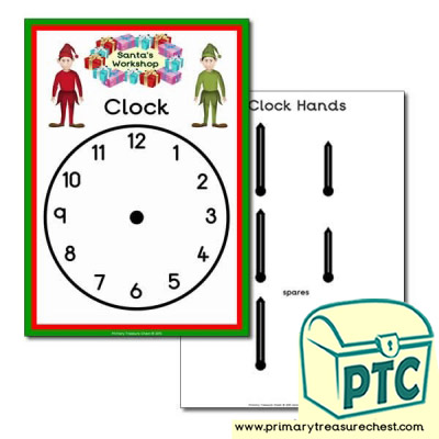 Santa's Workshop Role Play Clock