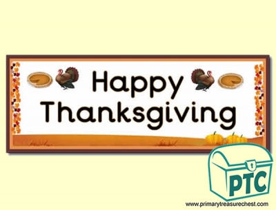 'Happy Thanksgiving' Display Heading/ Classroom Banner