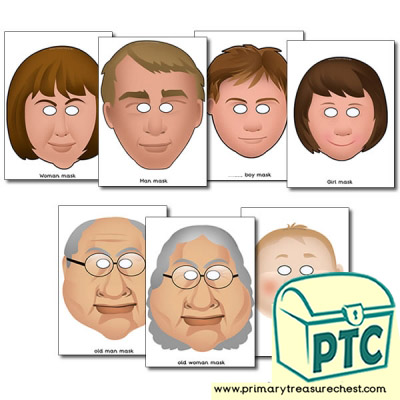 White Family Role Play Masks
