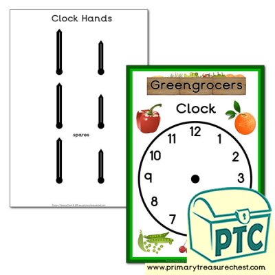 Greengrocers Role Play Clock