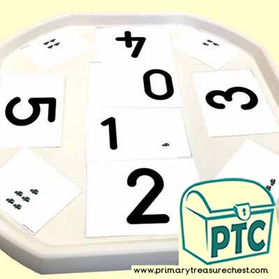 Number Shapes to Numbers Tuff Tray Taxi Themed Activity Cards