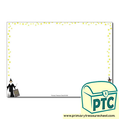 Magic Spells Landscape Page Border /Writing Frame (no lines)