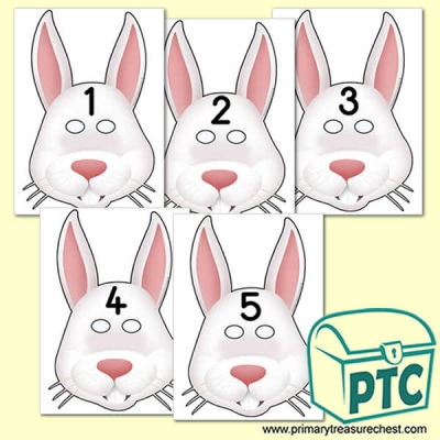 Rabbit Number Role Play Masks