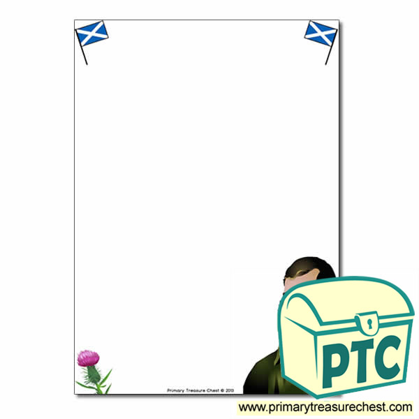 Robert Burns Themed Page Border - No Lines