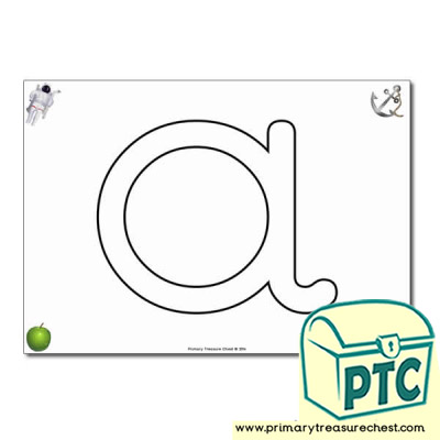 'a' Lowercase Bubble Letter A4 Poster containing high quality and realistic images