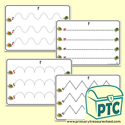 'Ff' Themed Pre-Writing Patterns Activity Sheets