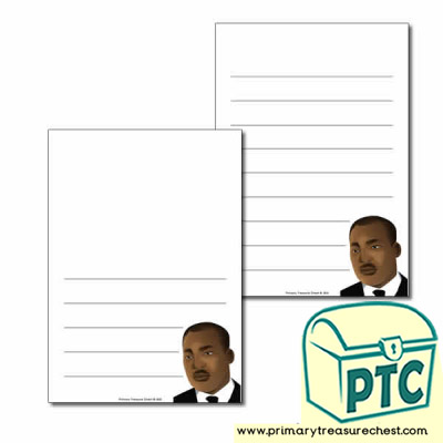 Martin Luther King Jr Themed  Page Border/Writing Frame (wide lines)
