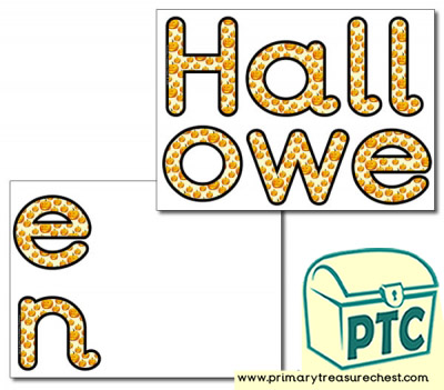 'Halloween' Display Letters