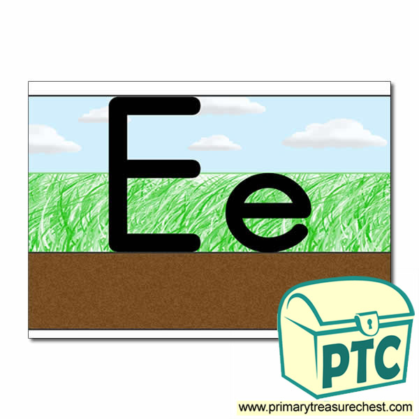Letter 'Ee' Ground-Grass-Sky Letter Formation Sheet