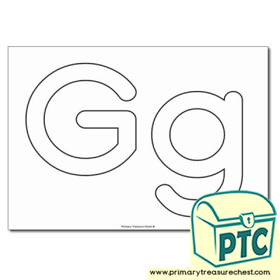 'Gg' Upper and Lowercase Bubble Letters A4 Poster - No Images.