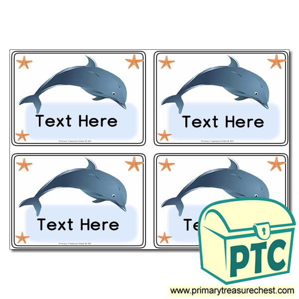 Dolphin Themed Registration Name Cards