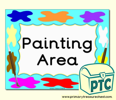 Painting Area Classroom Sign