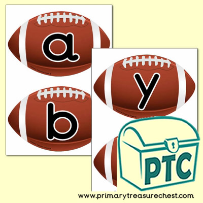American Football Themed Alphabet Cards (upper and lower case)