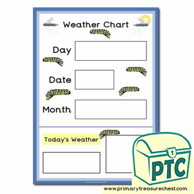 Weather Chart A3 Poster with Caterpillars