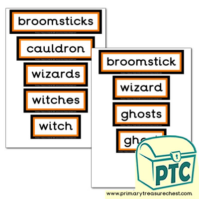 Halloween Display Words