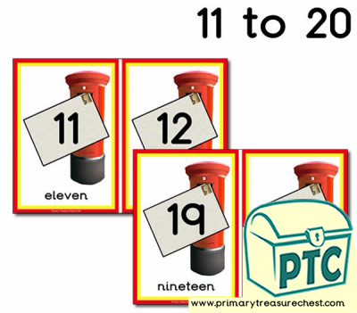 Postbox Number Line 11-20