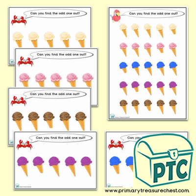 Odd-One-Out Ice Cream Challenge Activity Stage 3