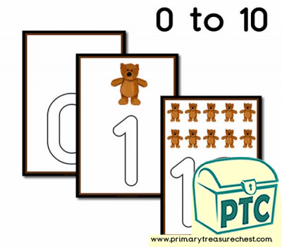 Bear Themed Playdough Mat 0-10
