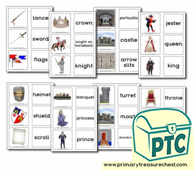 Medieval Castle Role Play Matching Cards