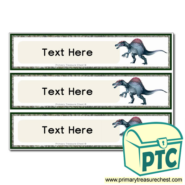 Spinosaurus Dinosaur Themed Pupil Drawer Labels (Large)