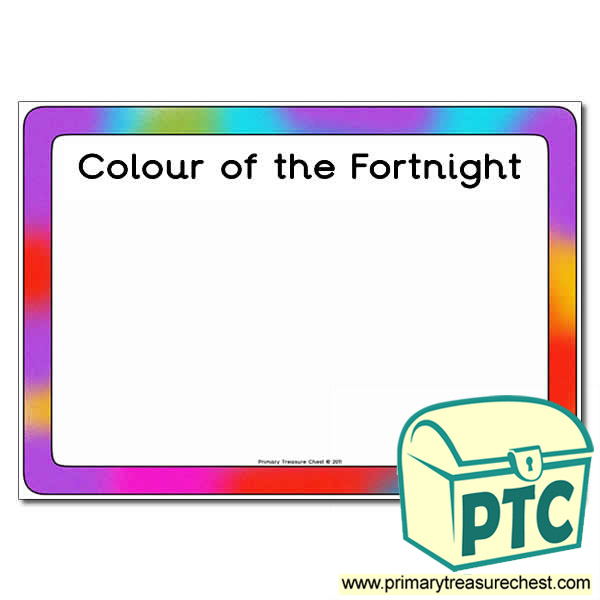 Colour of the Fortnight Poster