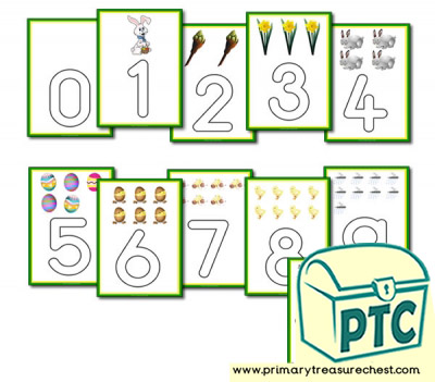 Spring Themed Number Playdough Mat 0-10