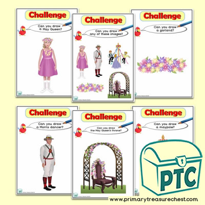 May Day  Themed ICT Challenge Cards