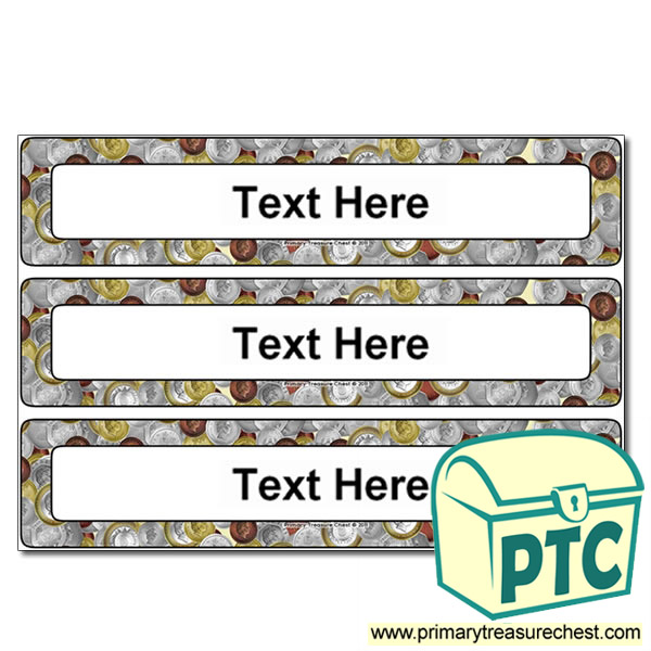 British Money/Coins Themed Drawer Labels (Large)