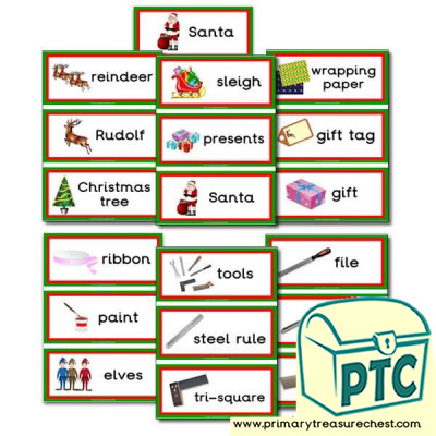 Santa's Workshop Flashcards