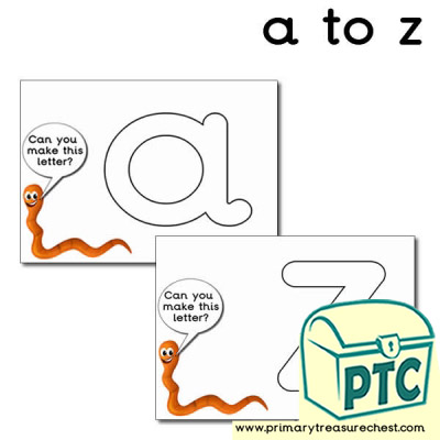 Worm Themed Alphabet Playdough Mats (a to z)