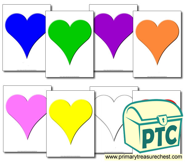 Heart Sorting Activity (Large Hearts)