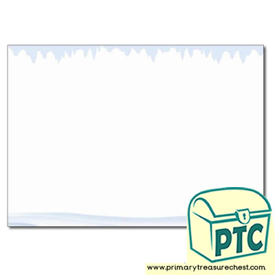 Snow and Ice Themed Landscape Page Border / Writing Frame (no lines)