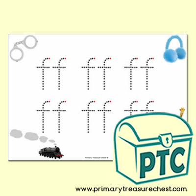 'ff' Double Letter Formation Activity - Join the Dots