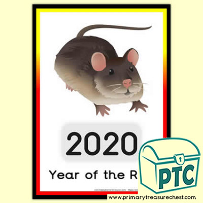 Chinese New Year Poster - 2020 Year of the Rat