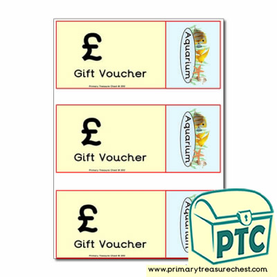 Aquarium Role Play Vouchers