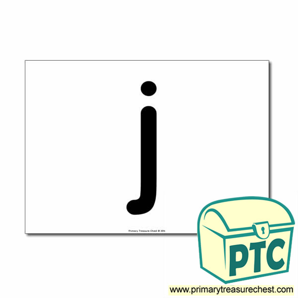 'j' Lowercase Letter A4 poster  (No Images)