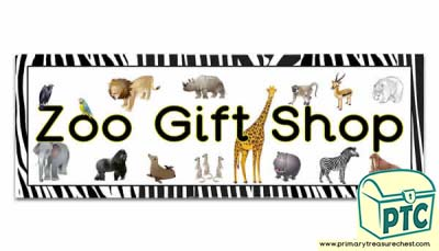 'Zoo Gift Shop' Display Heading/ Classroom Banner