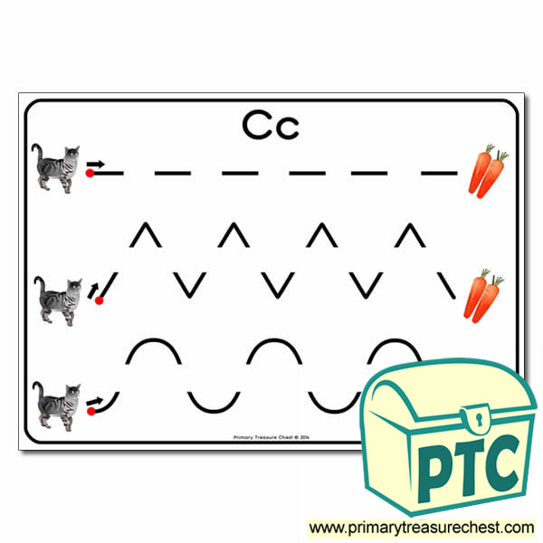 'Cc' Themed Pre-Writing Patterns Activity Sheet