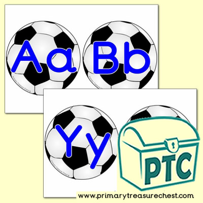 Football Themed Alphabet Cards (upper and lower case)