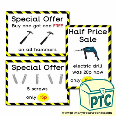 Role Play DIY Shop Special Offers (1-20p)